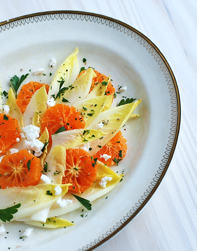 how to cut endive for salad