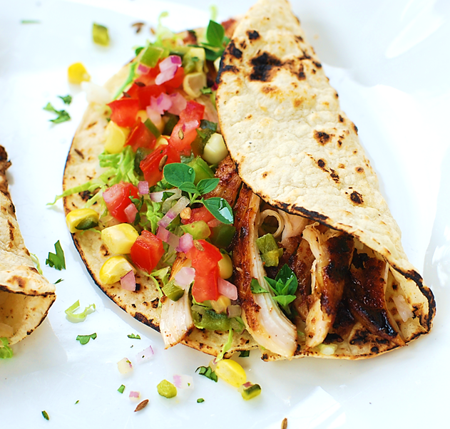 Grilled Chipotle Chicken Tacos |
