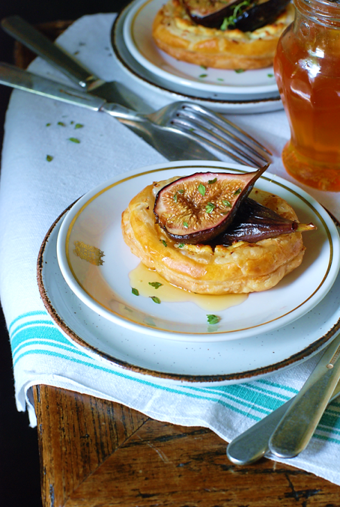 Puff Pastry w/ Fresh Goat Cheese & Honey Roasted Figs |