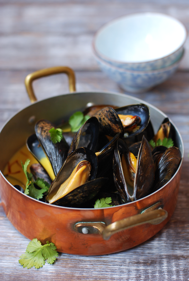 Coconut Curry Mussels |